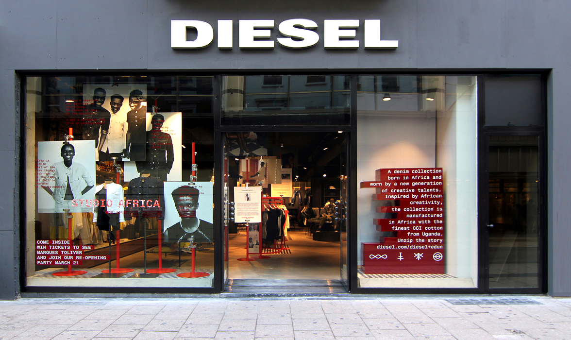 diesel store in brussels studio africa collection i a p. Black Bedroom Furniture Sets. Home Design Ideas